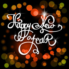 Happy New Year card. Vector illustration.
