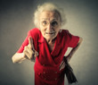 canvas print picture - Grandma pointing out