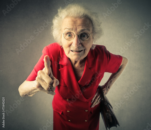 canvas print picture Grandma pointing out