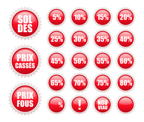 soldes stickers rouges