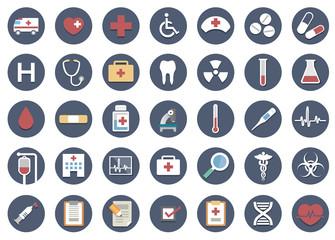 医療系フラットアイコンセット