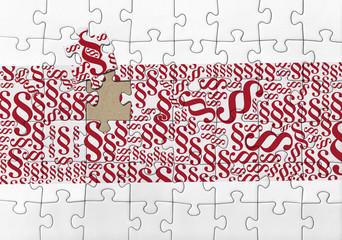 Paragraph sign puzzle
