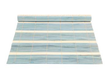 Blue straw rug
