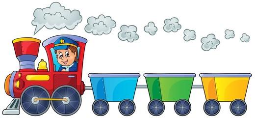 Train with three empty wagons