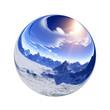 Leinwanddruck Bild - Fantastic colorful ball