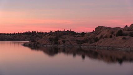 Arizona Lake at Sunset