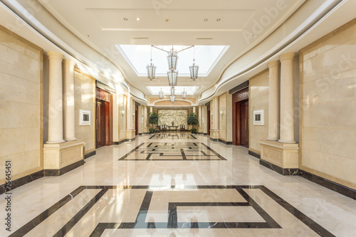 modern hotel interior and corridor - 75645451