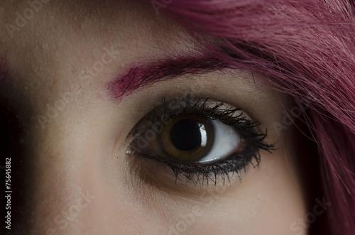 canvas print picture Frau braun-grüne Augen rote Haare