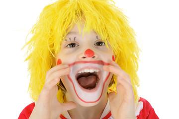 Kleiner Clown schreit laut