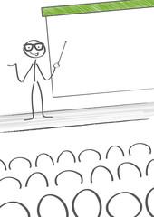 Präsentation vor Publikum