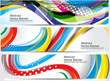 abstract colorful wave banner background