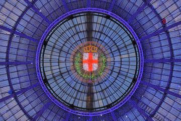 Milano Galleria Vittorio Emanuele luci di Natale 2014-15