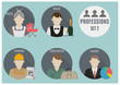 Постер, плакат: Profession people Set 2