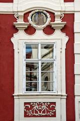 Classical  window in Prague, Czech Republic