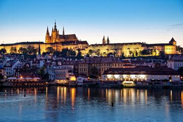Prague castle by night, Czech republic