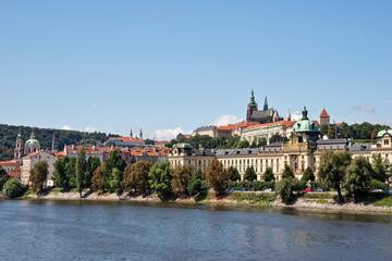 Prague castle and the Vltava river, Czech Republic