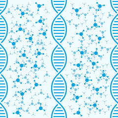 DNA background with molecules
