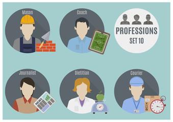 Profession people. Set 10