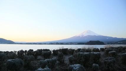 河口湖からみる富士山