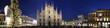 Leinwanddruck Bild - Milano Piazza Duomo