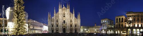 Leinwanddruck Bild Milano Piazza Duomo