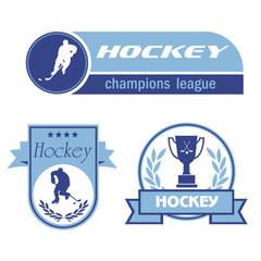 Vector emblems Hockey