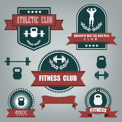 Emblems athletics, fitness and bodybuilding