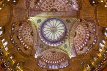 Blue Mosque in Istanbul, interior view