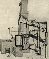 First steam engine in Prussia, 1785