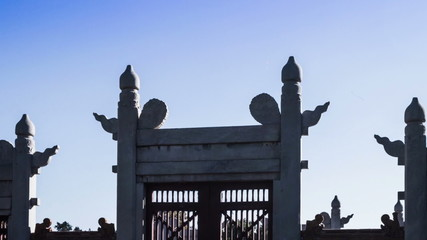 The royal door of Altar in Temple of Earth, Beijing, China