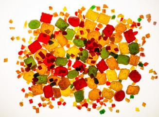 cut sweet dried fruits