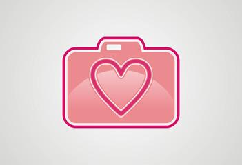 Valentine moment photo logo vector