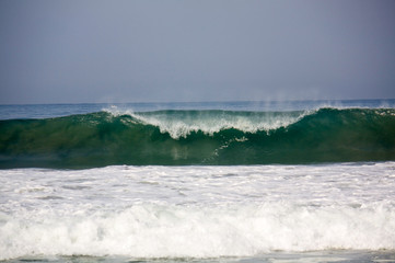 Wave breaking at Zicatela Mexican Pipeline Puerto Escondido Mexi