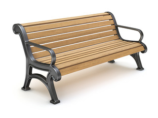 Bench on white background