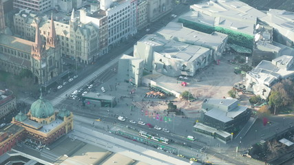 Timelapse video of Federation Square in Melbourne