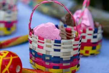 handmade candies in basket