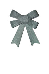 Green ribbon with a bow
