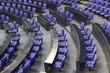 Leinwanddruck Bild - Sitze im Bundestag