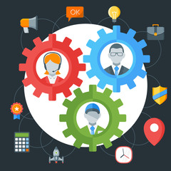 Human resource management concept