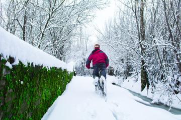 biker&nature&winter