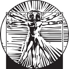 Vitruvian Goat man