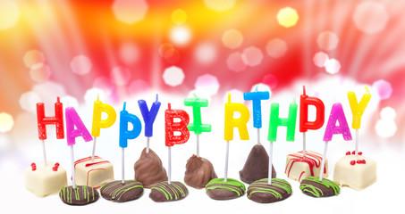 Geburtstagskerzen vor Bokeh