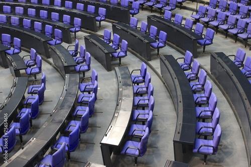 Leinwanddruck Bild Sitze im Bundestag