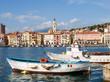 Fishing boats moored - 75654884