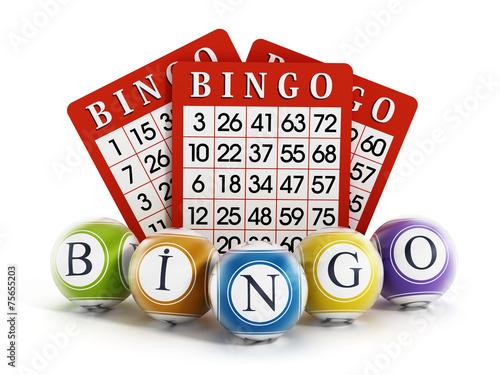 Bingo balls and cards - 75655203