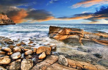 La playa de las rocas