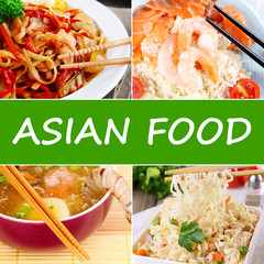 Asian Food collage