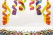 canvas print picture - Luftschlangen und Konfetti