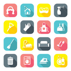 Flat Design Maid Icons