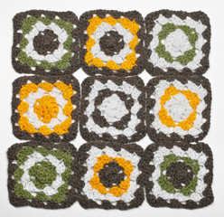 Knitted color pattern